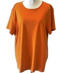 Eileen Fisher Top ~ Pumpkin Burnt-Orange Knit 2X